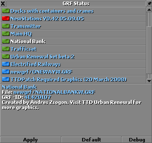 TTDPatch GRF Status