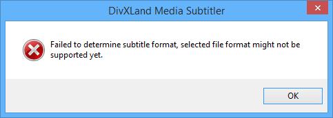 DivXLand Media Subtitler error