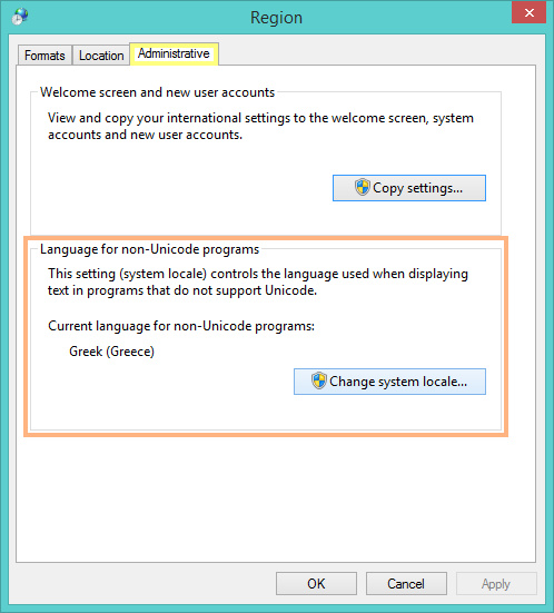 Windows Region format settings
