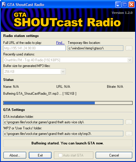 GTA ShoutCast Radio