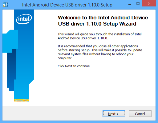 Intel Android USB Drivers