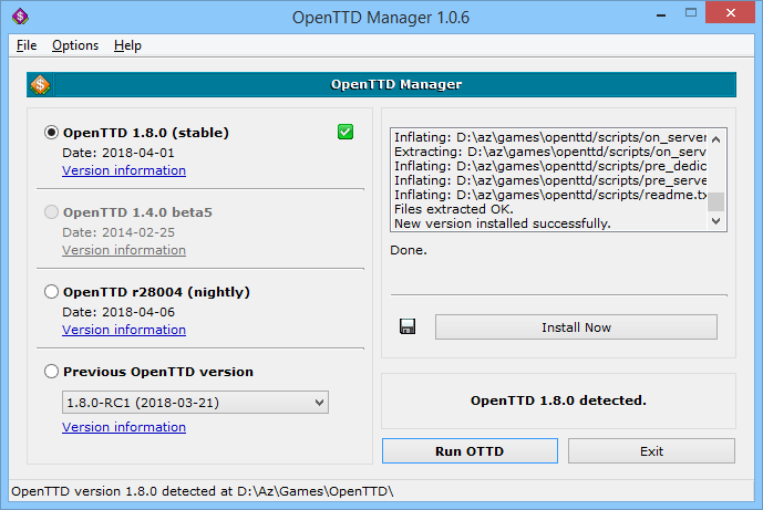 openttd manager 1.0.6
