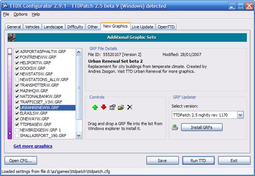 TTDX Configurator New GRF Graphics